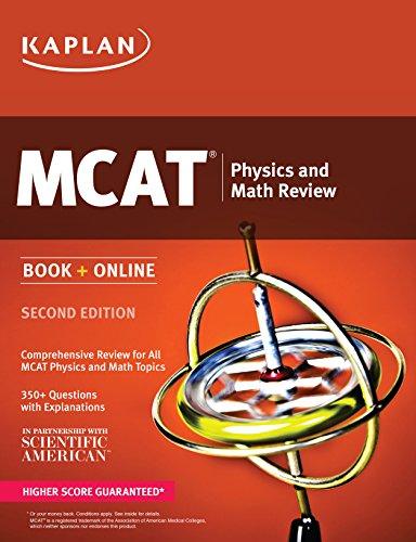 Kaplan MCAT Physics and Math Review: Book + Online (Kaplan Test Prep)