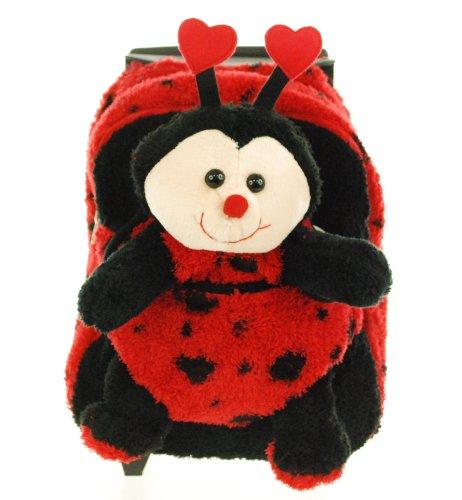 Kreative Kids 8066 Lady Bug Plush Rolling Backpack