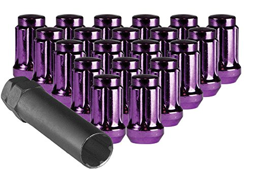 Purple Spline Drive Tuner Installation Kit (20 Lug Nuts & 1 Key) 12mm 1.25 R.H. Thread Pitch CECO