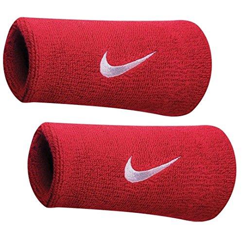 Nike Wristbands Baseball (NIKE Swoosh Doublewide Wristbands (Varsity Red/White, Osfm))
