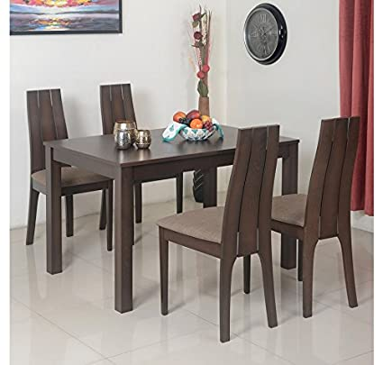 Home By Nilkamal Butterfly Seater Extendable Dining Table Set - Extendable beech dining table