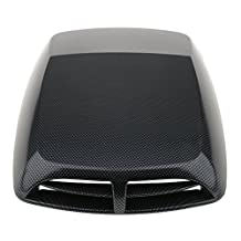 MonkeyJack Universal Car SUV Carbon Fiber Engine Air Flow Hood Scoop Vent Self Adhesive Fits for All Cars