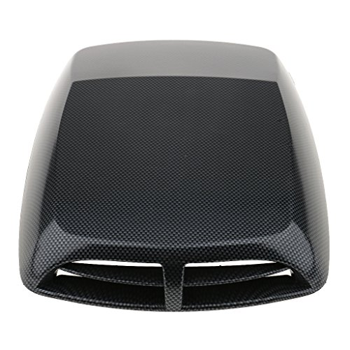 Homyl Decorative Air Flow Intake Turbo Bonnet Hood Vent Grille Cover for Car SUV Pickup Truck Trailer, Carbon Fiber, 12.8x9.8x2 Inch