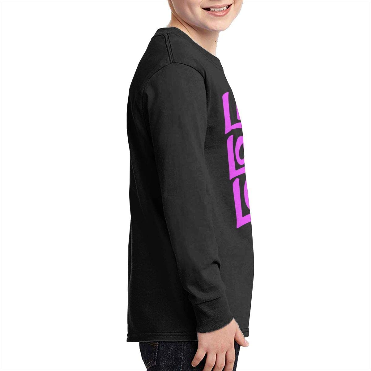 Teenagers Teen Boy Live Laugh Love Printed Long Sleeve 100/% Cotton Clothes