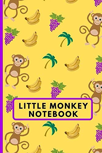 Little Monkey Notebook: 120 Lined Pages Paperback Notepad / Journal