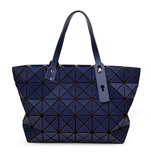 Geometrico Blue 7 Donne Piatta 8 Kaoling Quadrata Superficie Plaid Deep Grigio bag Tracolla Borsa Opaco wZg0ax6