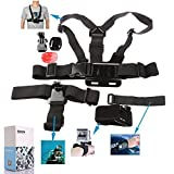 Great Value Gopro Set Kits DAZZNE KT-111 Neck & Chest Wearing Camera Accessory Set for GOPRO Black
