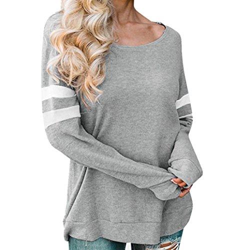 ❤ Camiseta Manga Raya Mujer,La Blusa Larga del Empalme de la Manga de Las señoras de la Moda Remata la Ropa Atractiva Absolute: Amazon.es: Ropa y ...