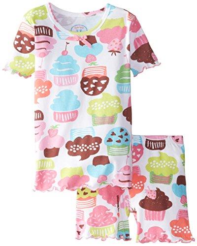 Sara's Prints Big Girls' Fitted Short Pajama, Crazy Cupcakes, 10