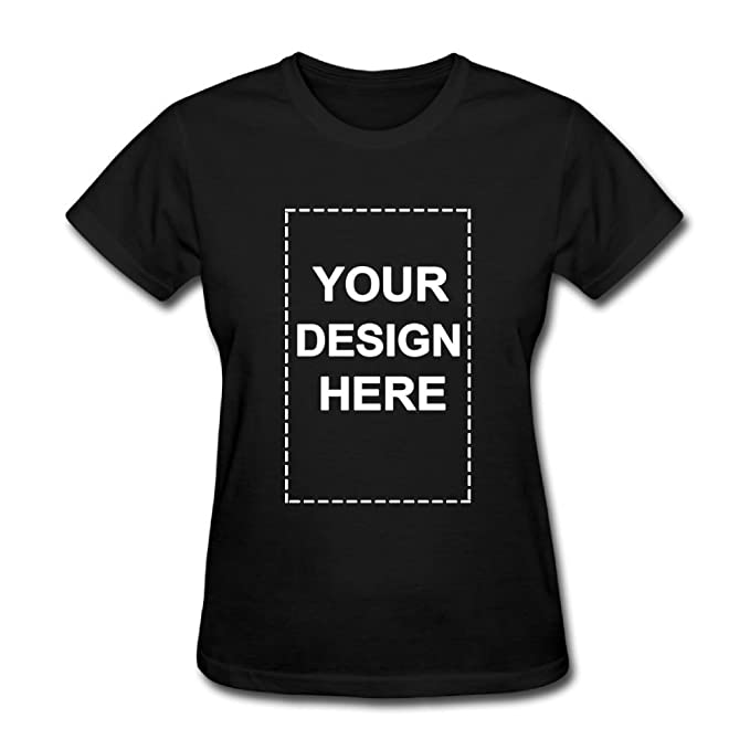 0f5b40e9ba84 Image Unavailable. Image not available for. Color: Custom Personalized  Women Shirts Add Your Own Text Image Printed ...