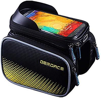自転車バッグ、防水トップチューブ電話バッグ、マウンテンバイク、敏感なタッチスクリーン、ほとんどの携帯電話と互換性があります