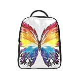 COLORSFORU(TM) Colorful Butterfly PU Scalewing Backpack Satchel School Book Bag