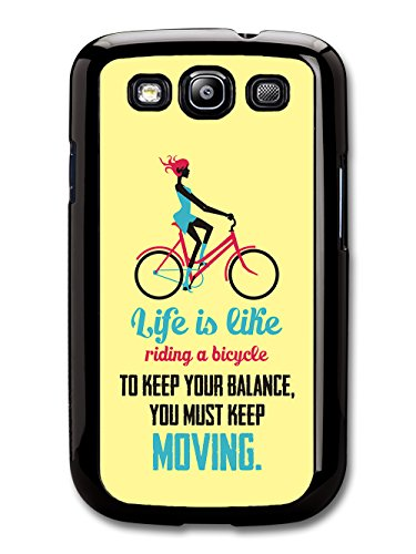 a Bicycle Albert Einstein Life & Love Inspirational Quote case for Samsung Galaxy S3 ()