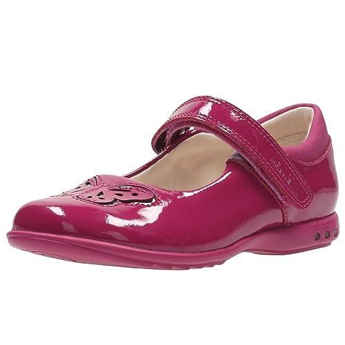 Clarks Trixi Wish Inf - Zapatos de Cordones de Piel para niña Rosa Rosa