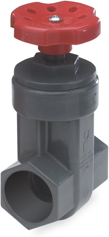 Gray NDS GVG-0500-T 1//2-Inch Threaded PVC Schedule 80 Gate Valve