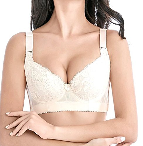 Mscoreray Women Push up Bra Padded Underwire Lace Bra Everyday Bras Plus Size - Extra Wide Lace Bra