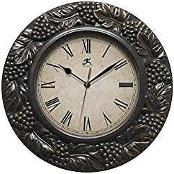 Infinity Instruments Napa 13.5 inch Silent Sweep Wall Clock