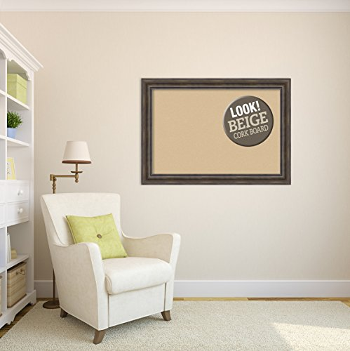 Amanti Art Framed Beige Cork Board Rustic Pine: Outer Size 42 x 30'', Extra Large by Amanti Art (Image #4)