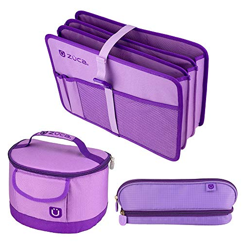 ZUCA Back to School Set - Lilac Purple Document Organizer, Lunchbox and Pencil Case by ZUCA