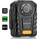 LBTech Police Body Camera 64GB with Night Vision, Video/Audio Body Worn Camera with 140 Degree Wide Angle [1296P HD + Continues Recording+ Waterproof]