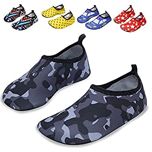 DENATER Water Shoes Boys Girls Kids Swim Shoes For Beach Pool Surfing