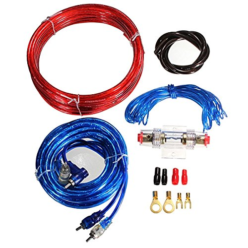 Mark8shop Car Complete Amplifier Wiring Kit Gauge for Speakers Subwoofers: