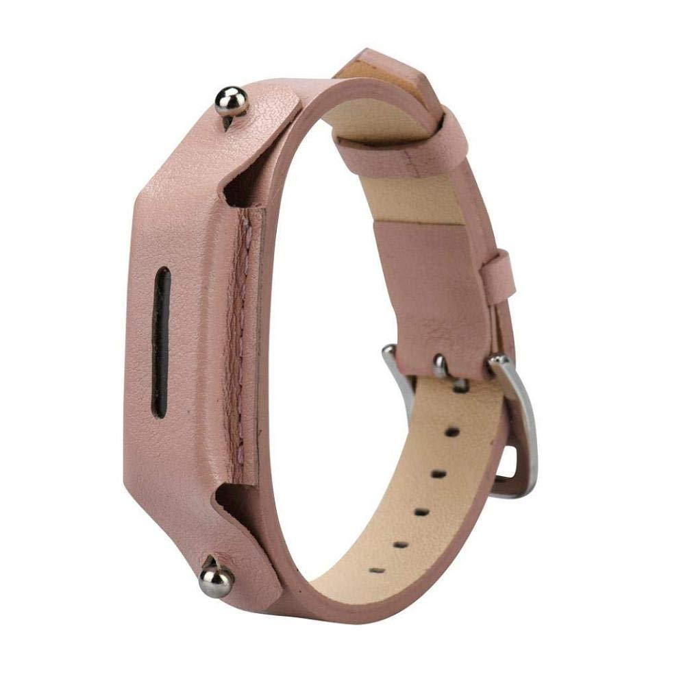 Fashion Clearance! Noopvan Fitbit Flex 2 Strap Adjustable Leather Replacement Accessories Bracelet for Fitbit Flex 2 Smart Watch (Pink)