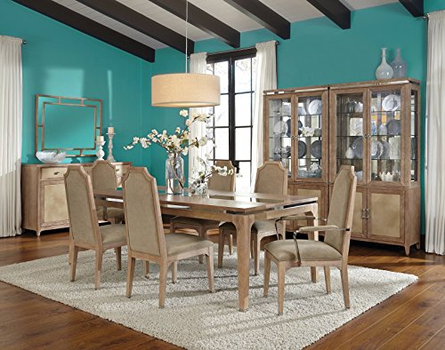 AICO Biscayne West Casual Dining Room Set with Dining Table, 2 x Arm Chair and 4 x Side Chair