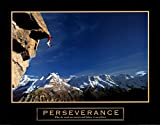 Perseverance Rock Climber Mountain Climbing Scenic Sports Motivational Poster