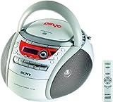 Sony CFD-E90 CD Radio Cassette Recorder (White)