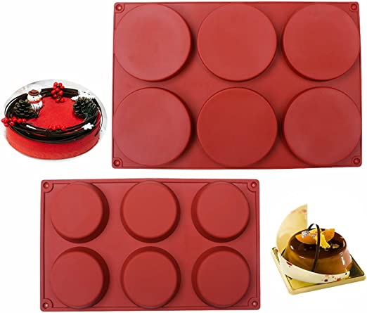 Irregular Round Plate Epoxy Mold Dia.8 inch Resin Casting Plate Shape Silicone Mold 1 inch depth