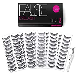 Eliace 50 Pairs False eyelashes 5 Styles...