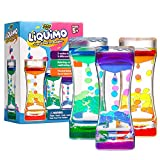YoYa Toys Liquimo - Liquid Motion Bubbler for Kids and Adults - 3-Pack - Hourglass Liquid Bubbler/Timer for Sensory Play, Fidget Toy and Stress Management - Cool Desk Décor