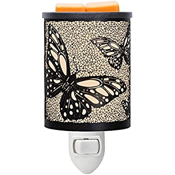 EQUSUPRO Metal Plug-in Wax Melt Warmer Wax Electric Burner Melter Fragrance Warmer Night Light for Home Office Bedroom Living Room Gifts Decor (Butterfly)
