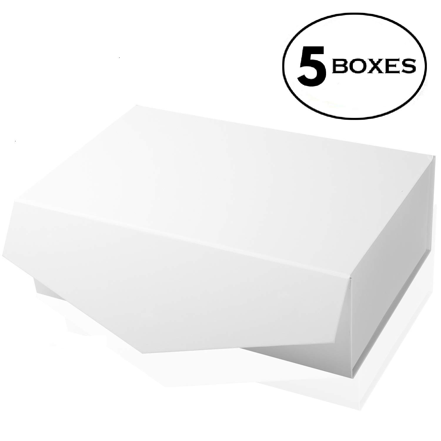 [Yeden] Large Gift Box | 5 Luxury Boxes | Collapsible Magnetic Closure | Durable Storage Box (14'' x 9'' x 4.5'')