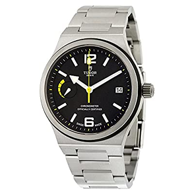 Tudor North Flag Automatic Black Dial Stainless Steel Mens Watch 91210N-BKSS