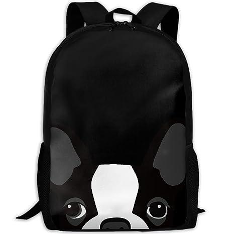 506fde3b2916 Funny Boston Terrier Interest Print Custom Unique Casual Backpack School  Bag Travel Daypack Gift
