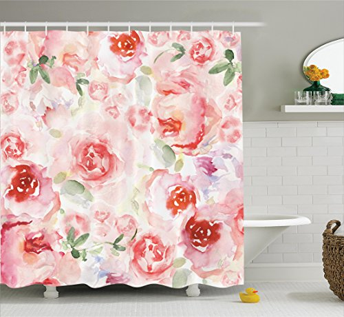 Ambesonne Watercolor Collection Romantic Polyester