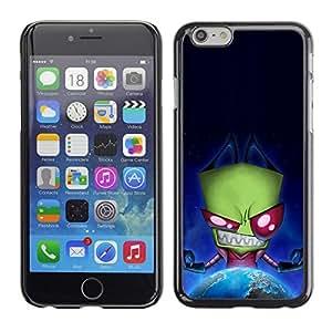 PC/Aluminum Funda Carcasa protectora para Apple Iphone 6 Green Monster Evil Ufo Alien Villain Earth Planet / JUSTGO PHONE PROTECTOR