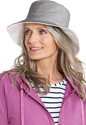 Coolibar UPF 50+ Women's Reversible Bayside Bucket Hat - Sun Protective (One Size- - Sun Bayside