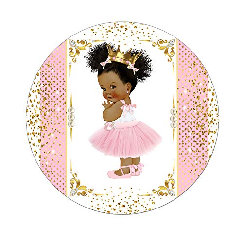 - Little Princess Labels Baby Shower Favor Stickers, Set of 40 African American Princess Royal Birthday Stickers
