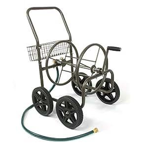 Liberty Garden Products 871-S Residential Grade 4-Wheel Garden Hose Reel Cart, Holds 250-Feet of 5/8-Inch Hose - Bronze