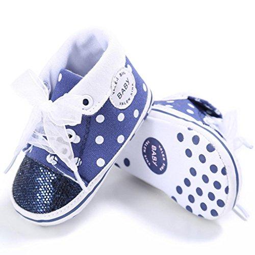 Tefamore Zapotos Zapatillas de deporte Antideslizante Suave Único del niños de lentejuelas Azul