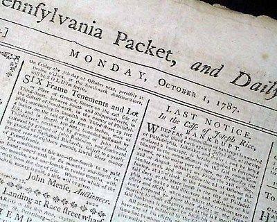 UNITED STATES CONSTITUTION Birth Certificate America 1787 ...