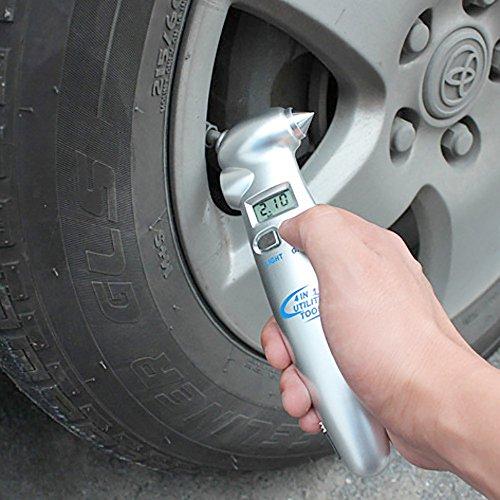 Pevor Car Digital Tire Pressure Gauge Multifunctional Tools Safety Hammer Automotive Supplies Belt Cutter by Pevor
