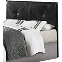 Homelegance Potrero Queen/Full Size Faux Leather Headboard, Black