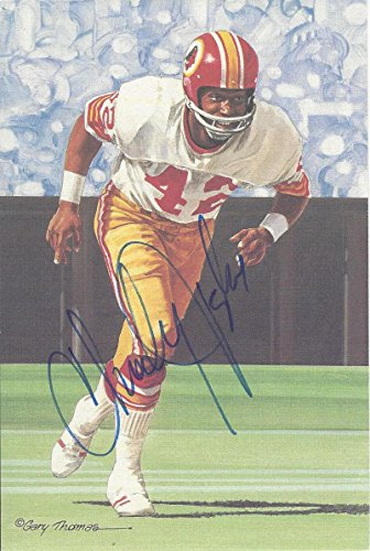 Charley Taylor Autographed Goal Line Art Card Washington Redskins Hall of Fame inductee 1986 from GFSF