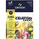 Bloco Colorido Criativo Cards Canson 120/m² A3 297 x 420 mm com 32 Folhas e 8 cores - 66667161
