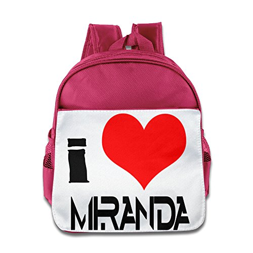 Custom I Love Miranda Sings Boys And Girls School Bagpack Bag For 1-6 Years Old Pink (Old West Outfit)