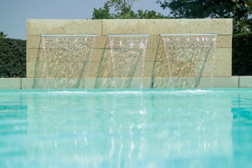 12'' Pool Aquatics Fountain Pond Garden Shower Wall Sheer Descent Waterfall Spillway by Custom Install Parts (Image #3)